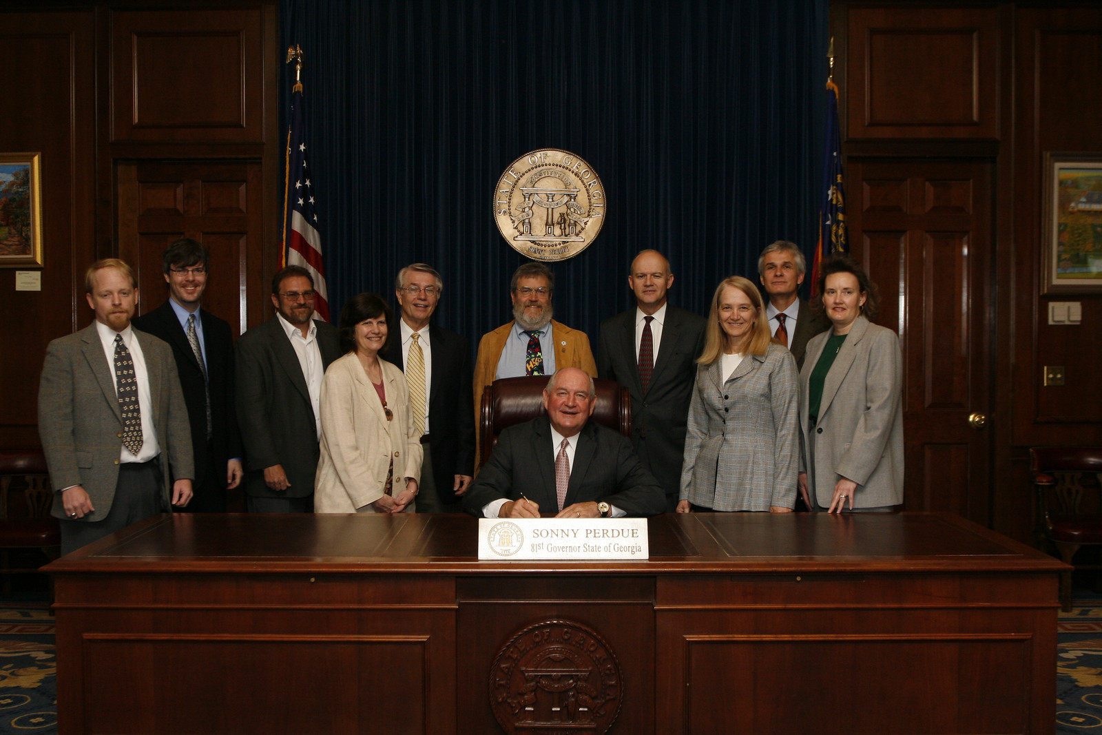 President Elliott overserves as GA. Gov. Sonny Perdue signs Georgia Archaeology Month proclamation